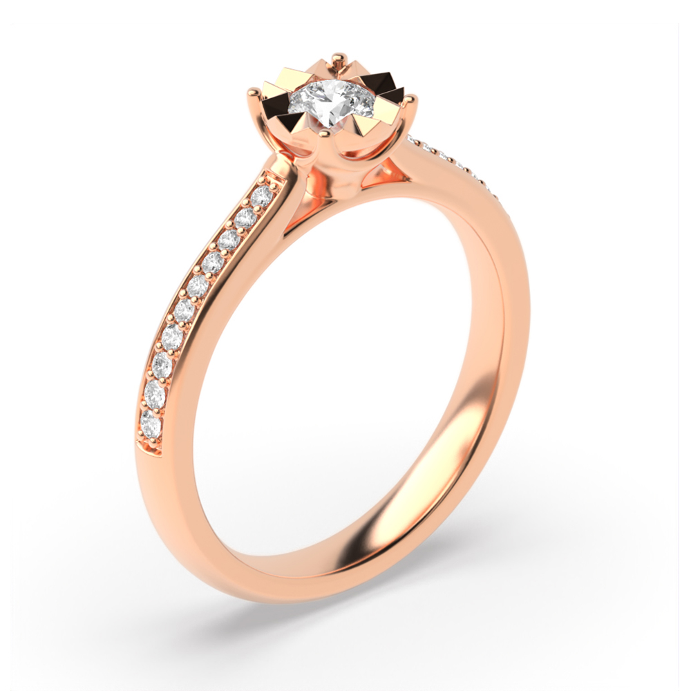 Diamant Cluster Rings Engagement Rings in einer 4 Prong