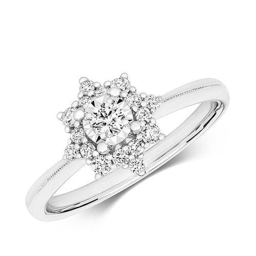 Cluster Illusion Set Diamond Ring in UK (10.0mm)