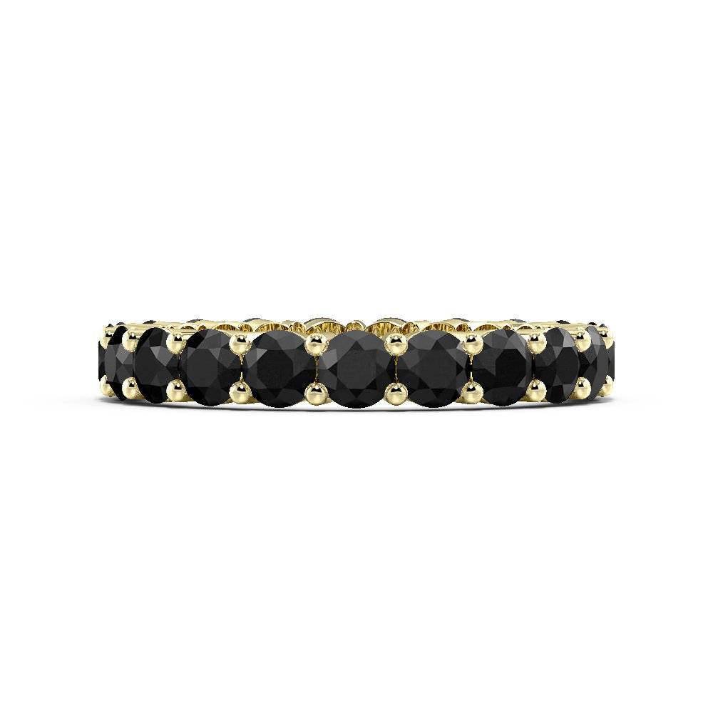 Prong Setting Round Full Eternity Black Diamond Rings (Available in 2.5mm to 3.5mm)