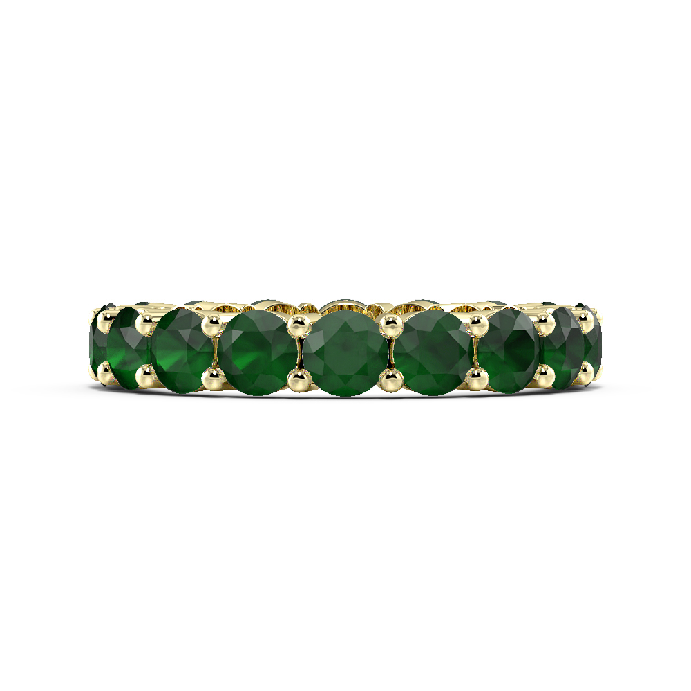 Prong Setting Full Eternity Gemstone Emerald Rings (Available in 2.5mm to 3.5mm)