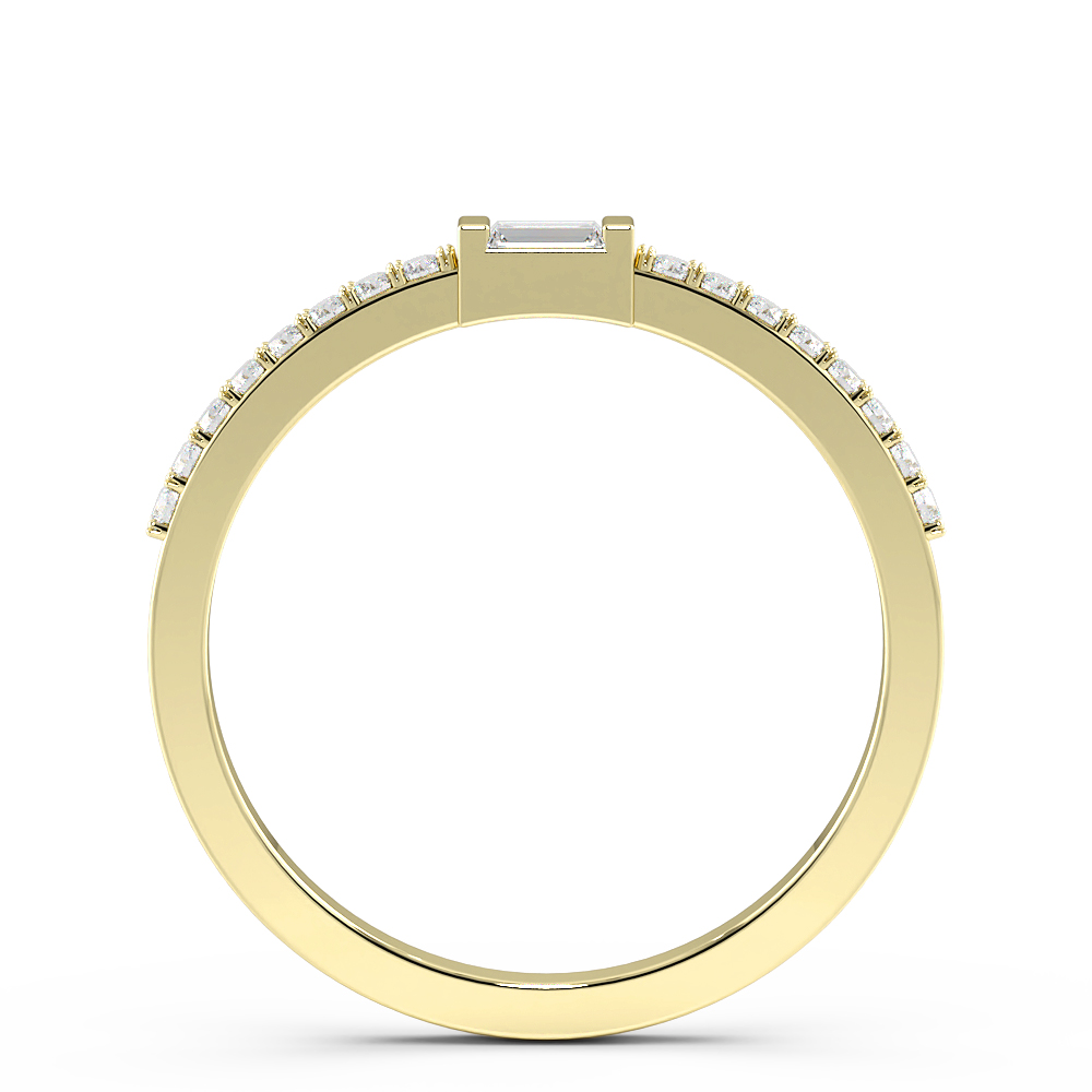 Channel Setting Stackable Delicate White, Yellow & Rose Gold Diamond Ring (1.90mm)