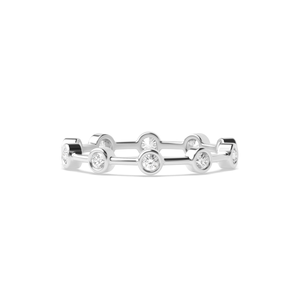 Bezel Setting Infinity Stackable Anniversary Diamond Eternity Ring (2.80mm)