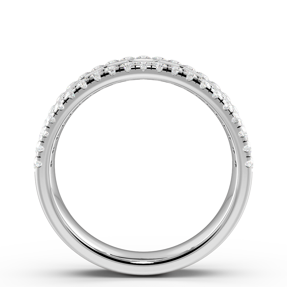 Prong And Channel Setting Round And Baguette Diamond Half Eternity Designer Rings(5.80Mm)