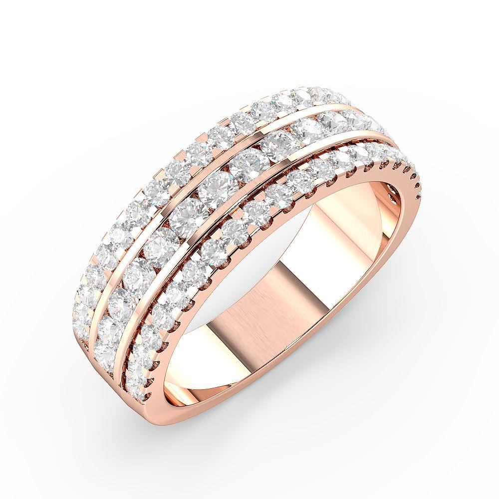 Round Shape Stylish Cluster Diamonds Designer Rings (7.00Mm)