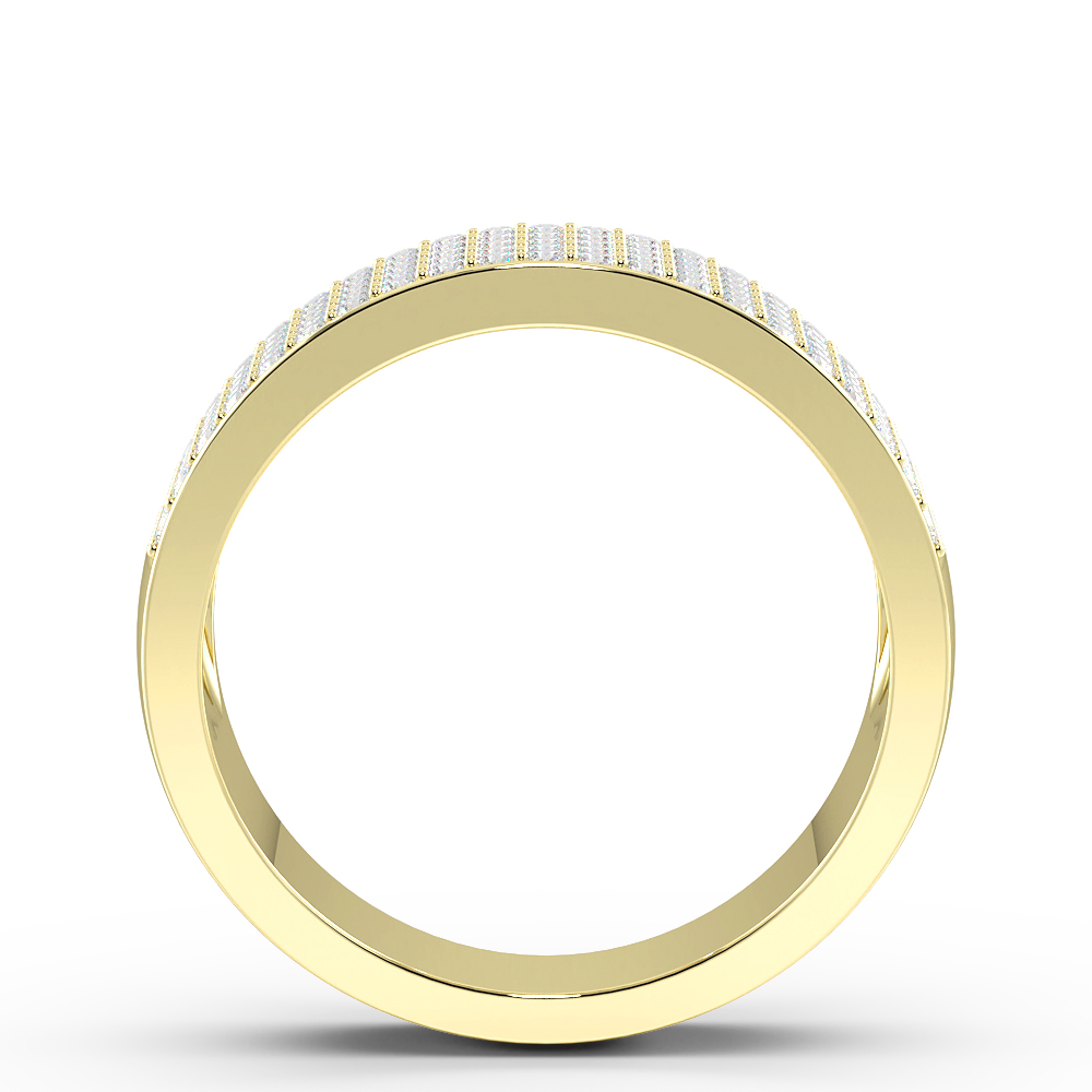Five Raw Pave Setting Round Diamond Half Eternity Designer Rings(7.00Mm)