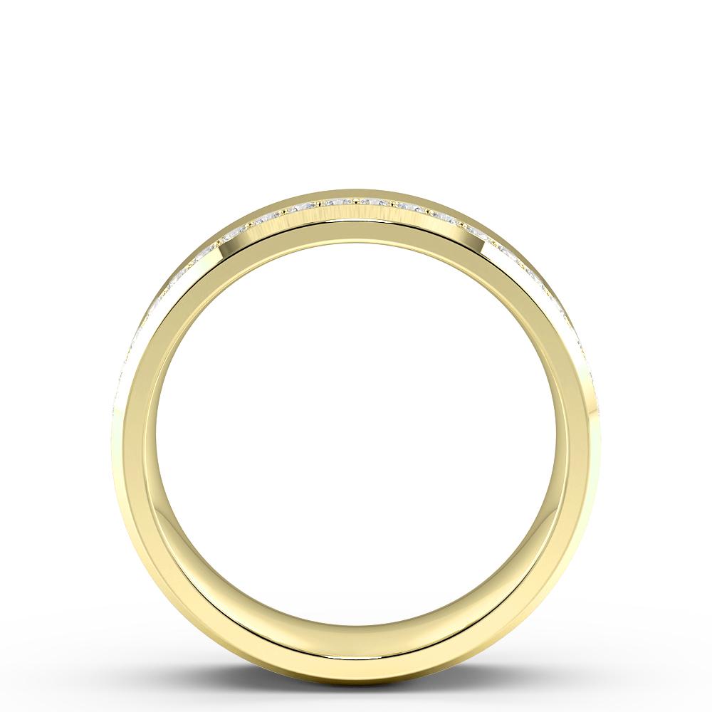 Pave Setting Side Raw Designer Diamond Wedding Full Eternity Band (6.00mm)