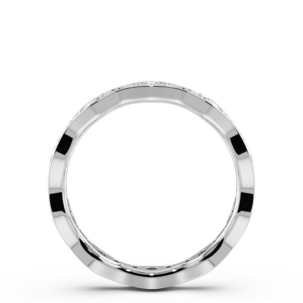 Pave Setting Stylish & Unique Diamond Full Eternity Wedding Band (3.30mm)