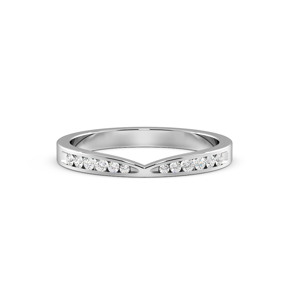 Channel Setting Curved to Fit Diamond Shaped Wedding Band (2.20mm)
