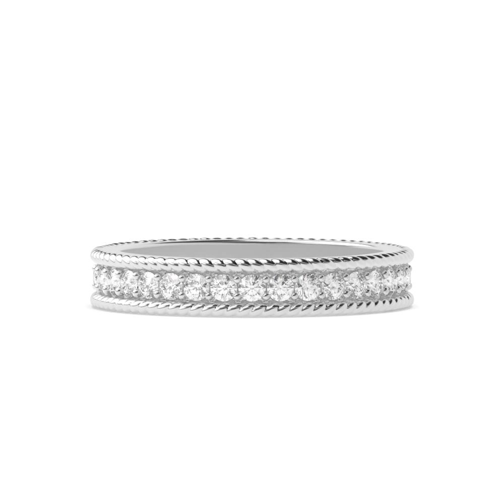 Pave Setting Art Deco Vintage Diamond Full Eternity Wedding Band (3.60mm)