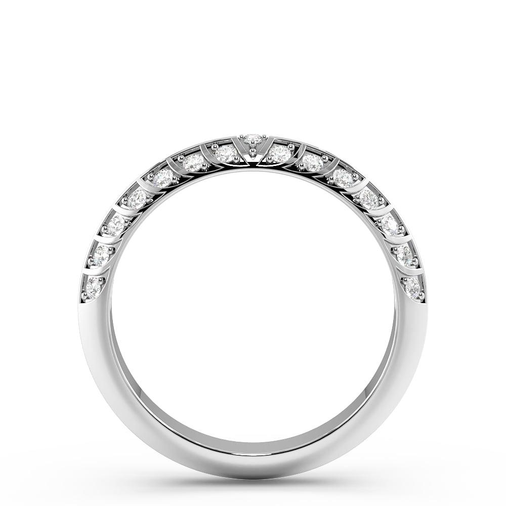 Pave Setting Art Deco Antique Diamond Wedding Band in Gold & Platinum (3.10mm)