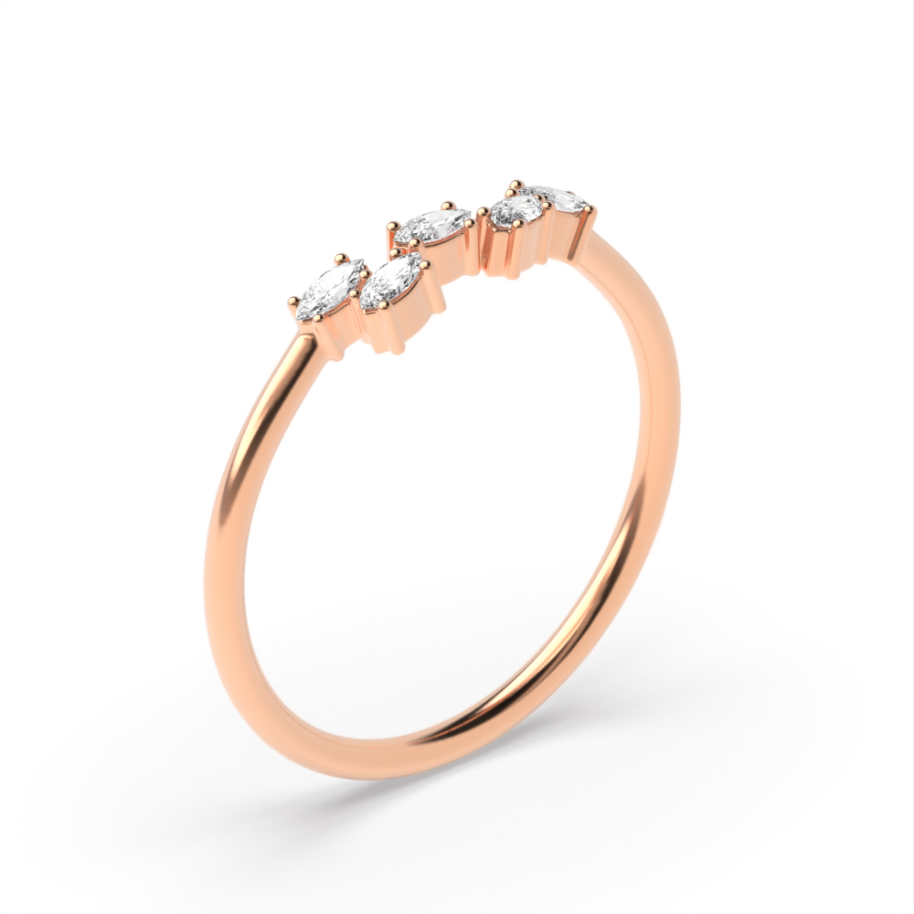 Buy 4 Prong Setting Unusual Diamond Cluster Ring For Her Abelini