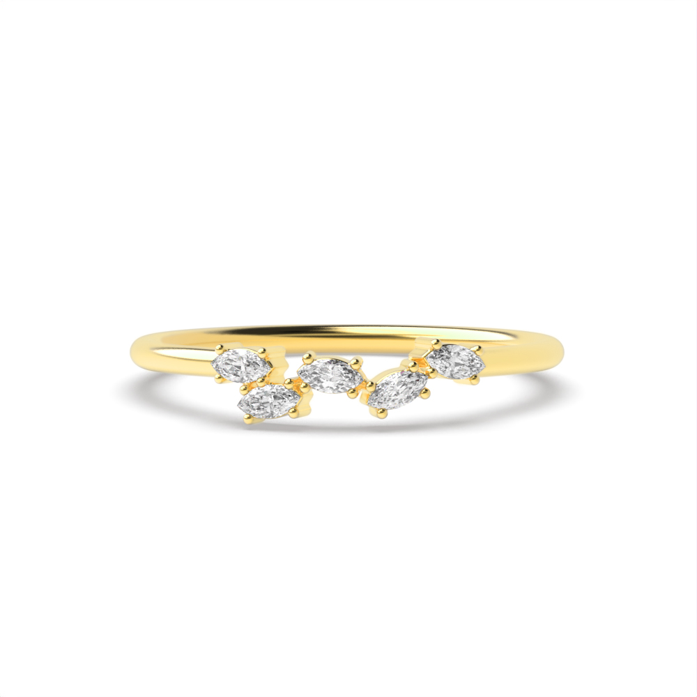 4 Prong Setting Unusual Diamond Cluster Ring for Her (3.50mm)