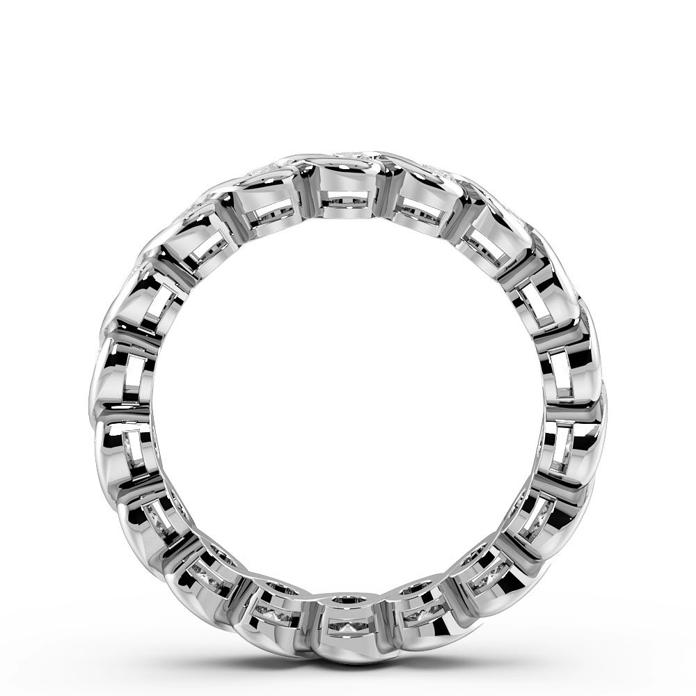 Channel Setting Round Shape S Link Full Diamond Eternity Ring (3.40mm)