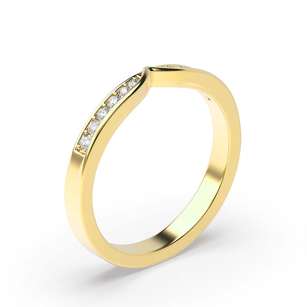 Channel Setting Marquise Shape Cross Over Full Diamond Eternity Ring (4.90mm)
