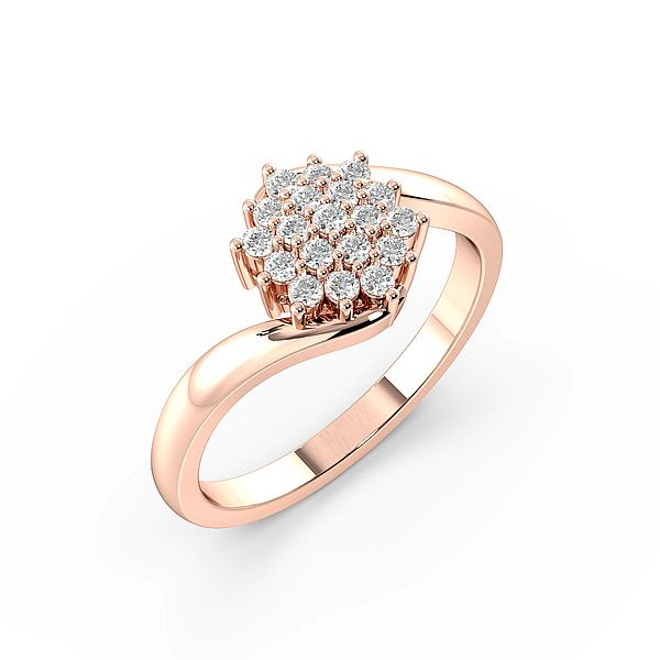 Diamant Cluster Rings Diamond Rings in einer Pave Setting