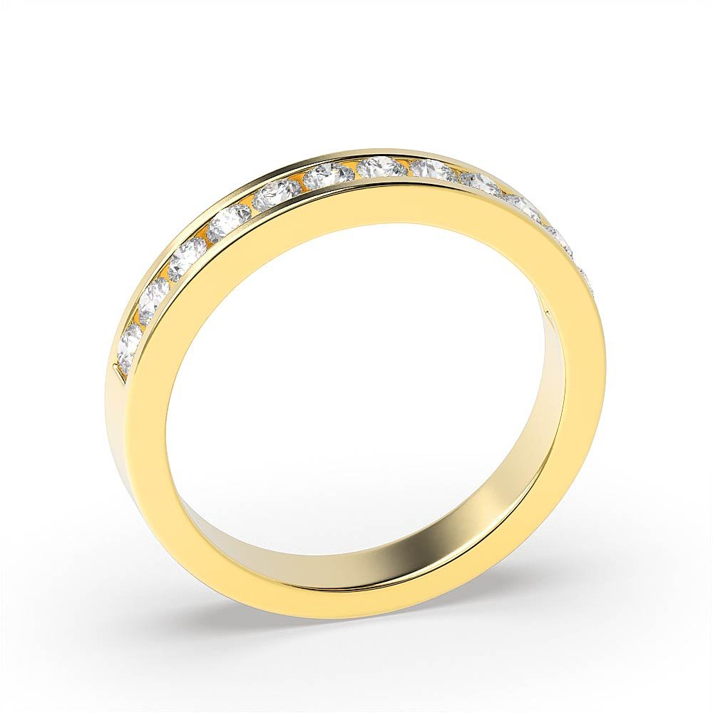 Round Bezel Setting Delicate Solitaire Diamond Engagement Rings