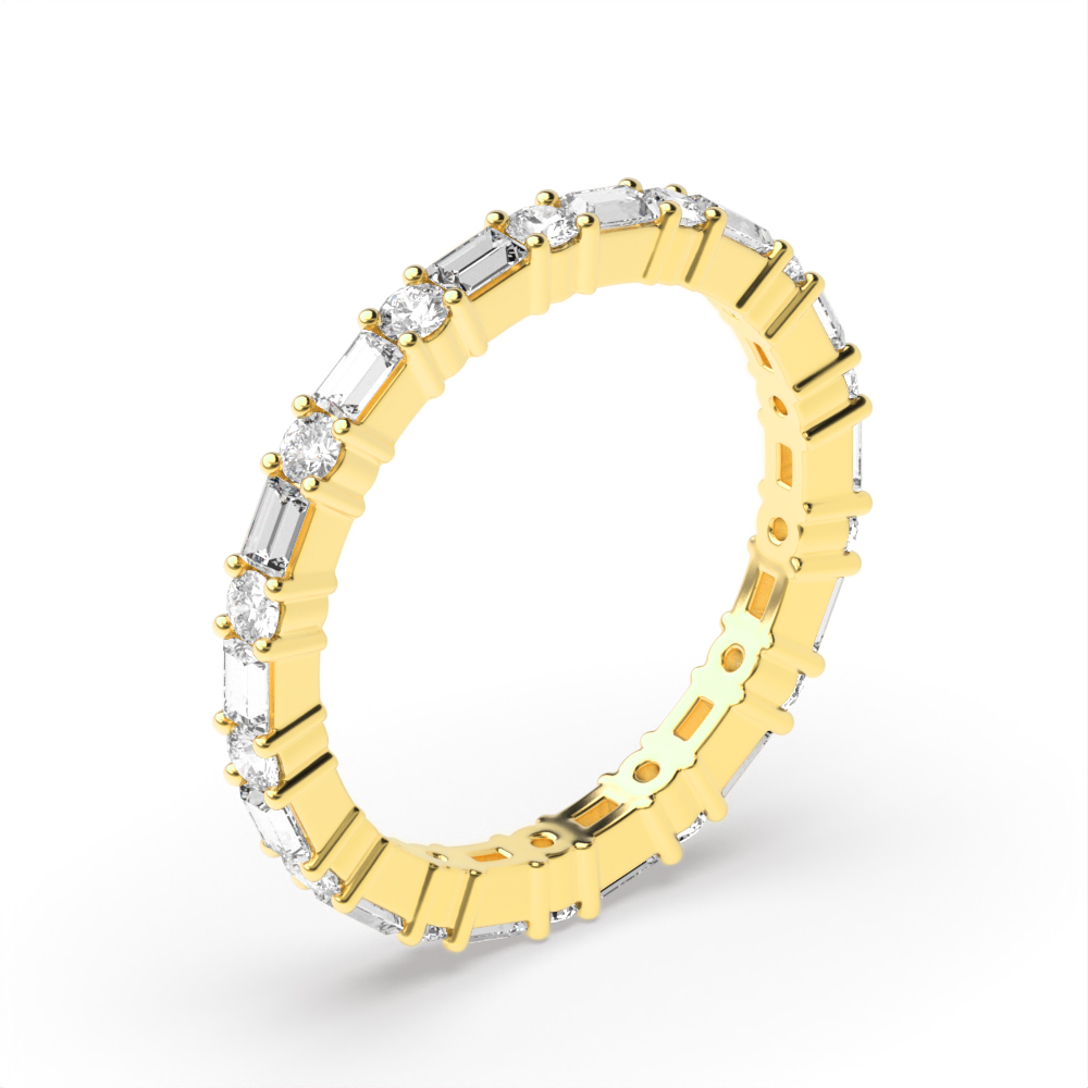 2.2mm Prong Setting Round/Baguette Full Eternity Diamond Ring
