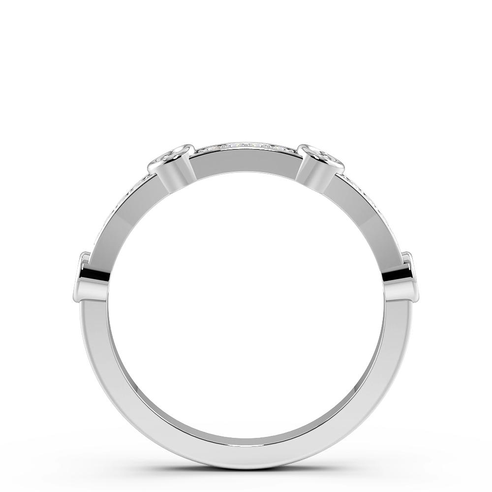 Designer Station Half Eternity Diamond Wedding Band (3.00mm)