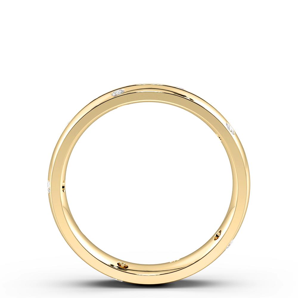 Flush Setting Round Shape Zig Zag Mens Diamond Rings (4.50mm)