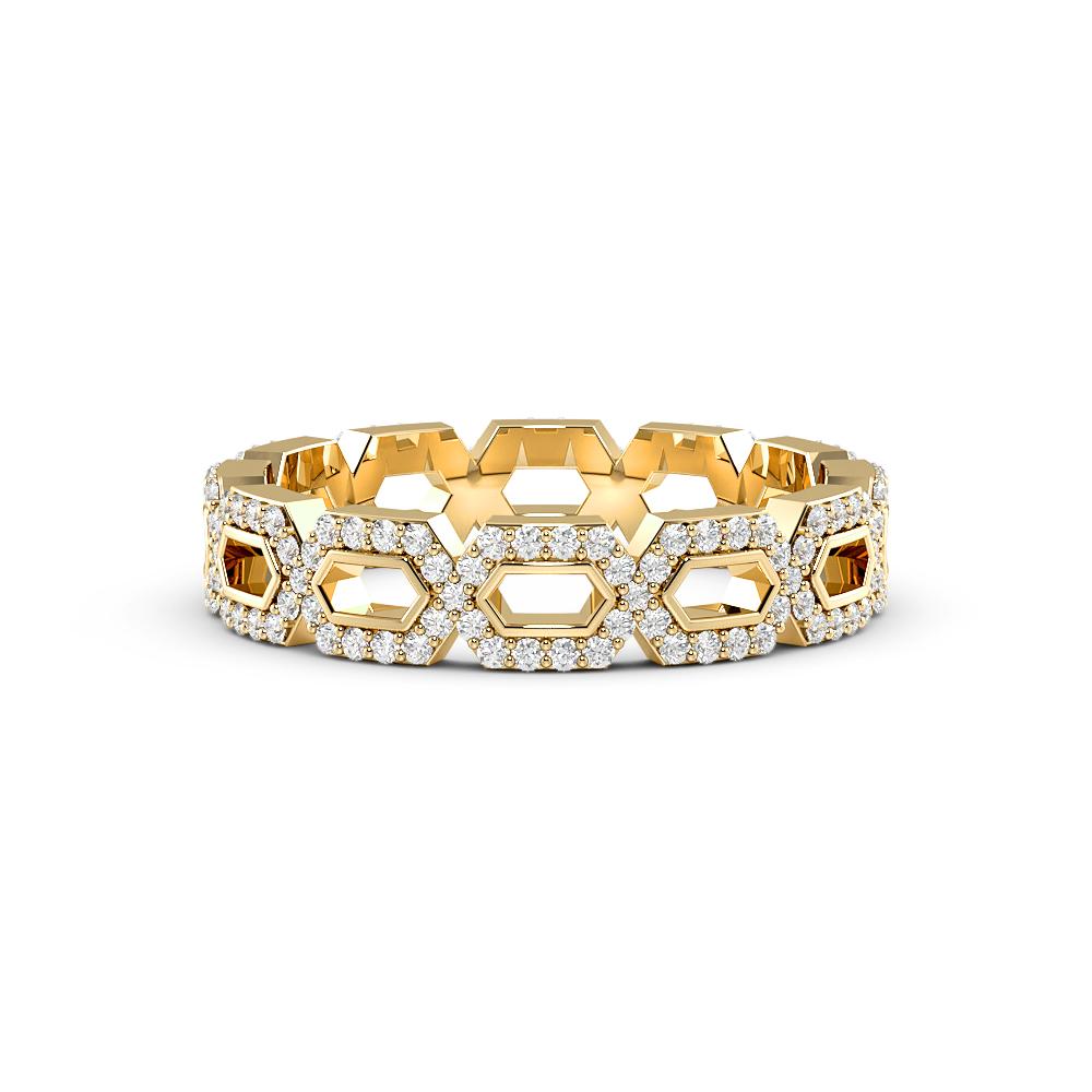 Pave Setting Round Shape Designer Full Diamond Eternity Ring (4.00mm)