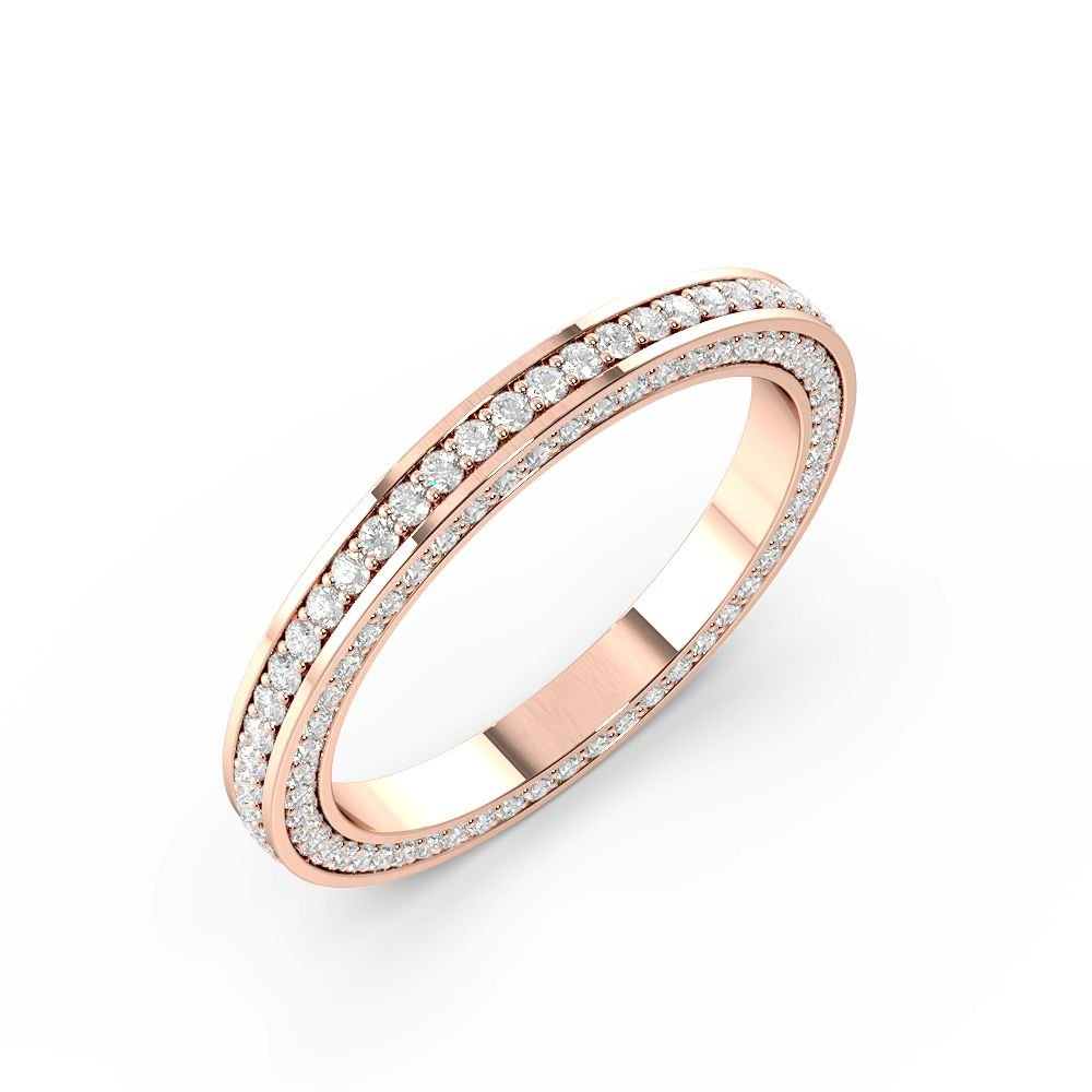 Pave Setting Round Shape Exclusive Full Diamond Eternity Ring (2.20mm)