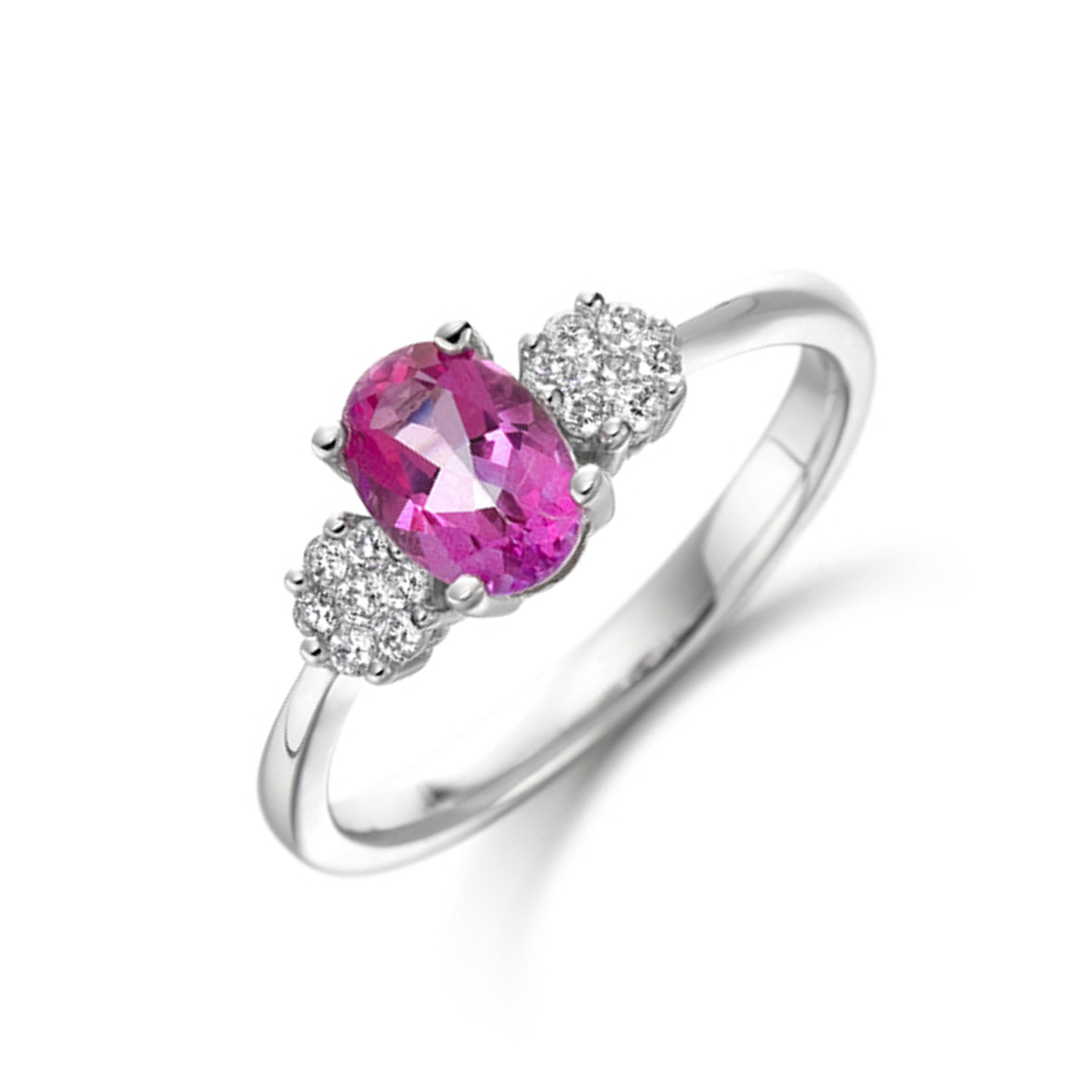 Pave Setting Round Shape Wavy Half Diamond Eternity Ring (2.80mm)