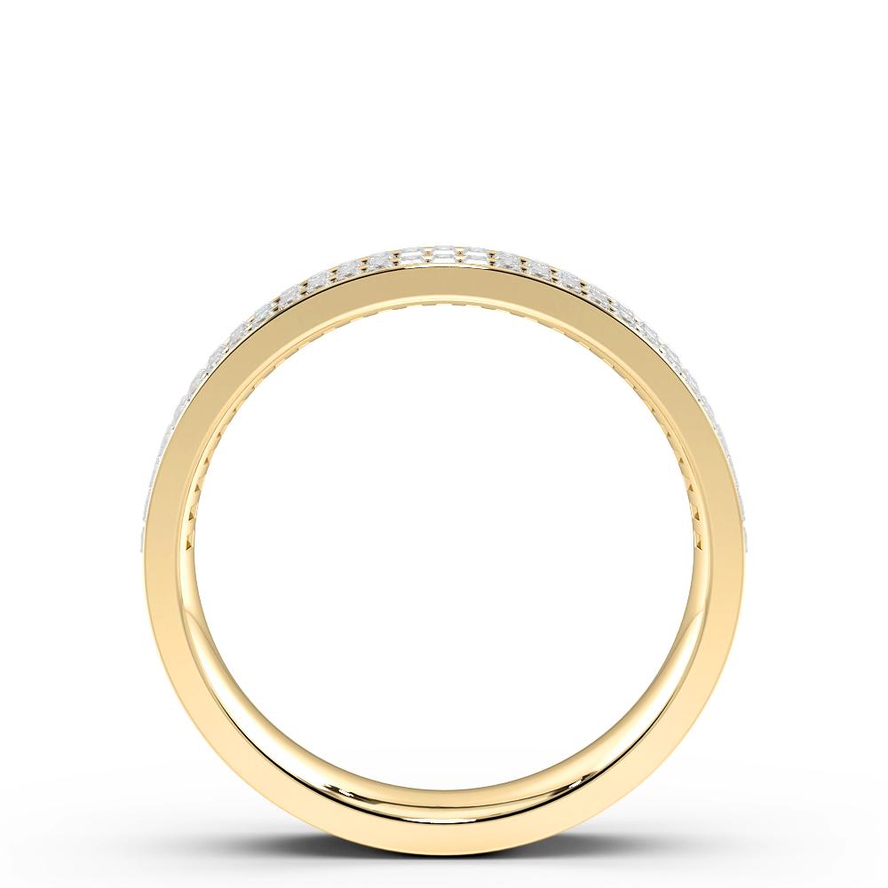 Channel Setting Baguette Shape 2 Raw Full Diamond Eternity Ring (4.30mm)