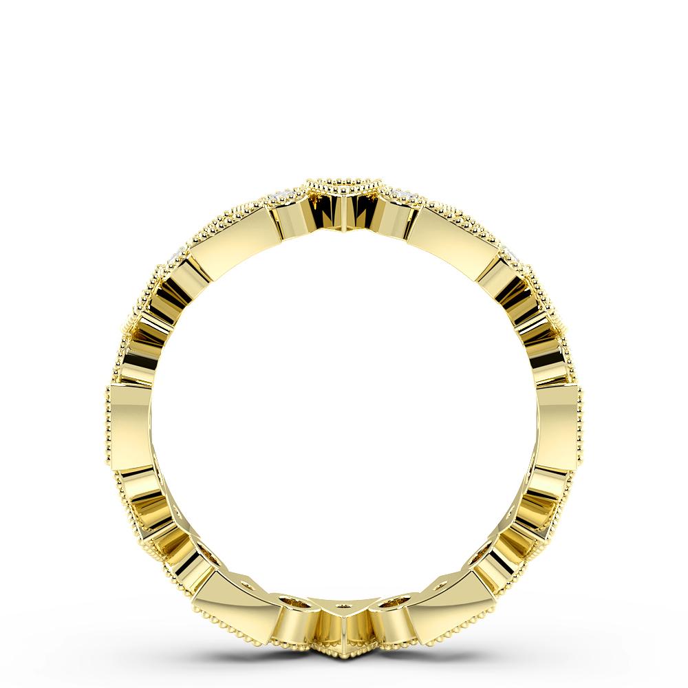 Pave Setting Round Shape Triangle & Round Shape Full Diamond Eternity Ring (3.50mm)