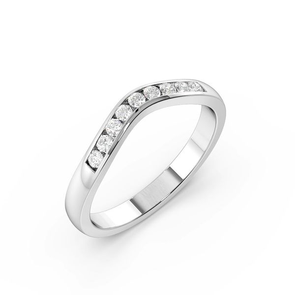 Round Shape Channel Setting Rounded Shaped Wedding Band (2.50mm)