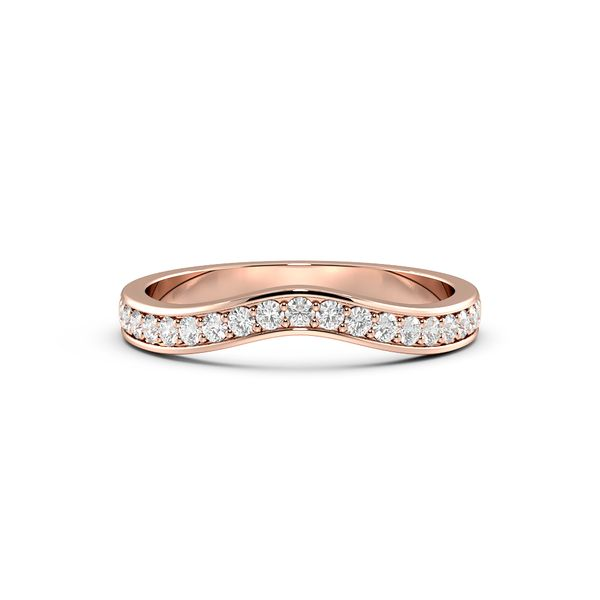 Round Shape Pave Setting Rounded Shaped Wedding Band to Fit Engagement Rings (2.50mm)