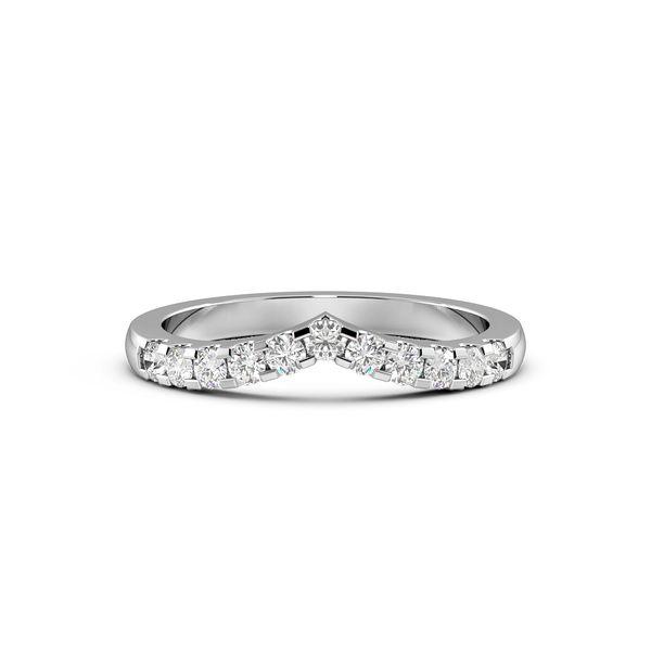 Round Shape 4 Claw Wishbone Wedding Ring (2.00mm)