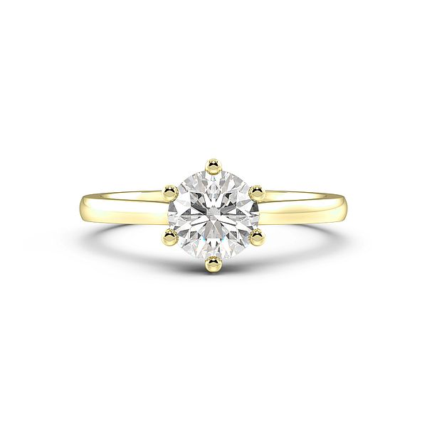 Round Cut Classic Solitaire Diamond Engagement Ring