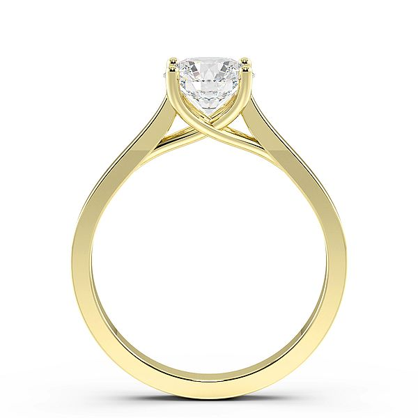 Cross Over Claws Solitaire Diamond Engagement Ring