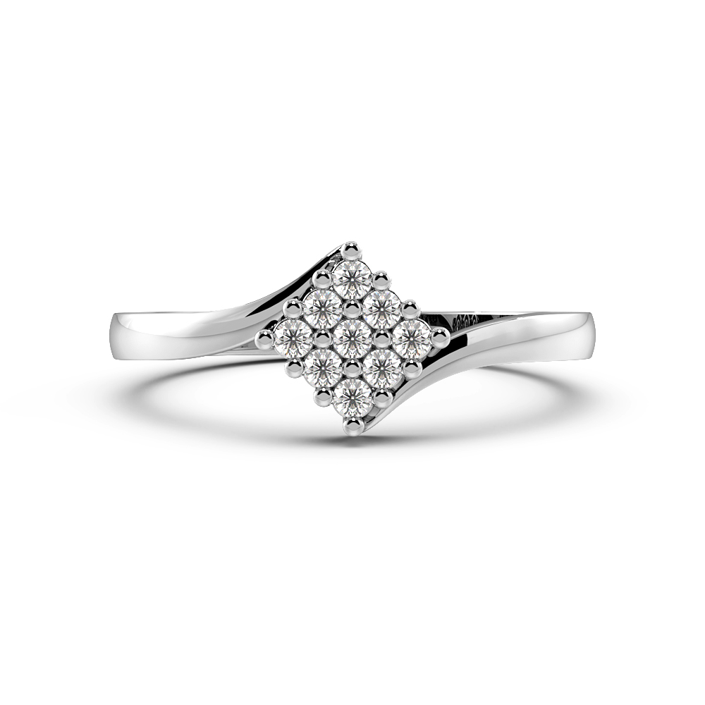 Diamant Cluster Rings Engagement Rings in einer Pave Setting
