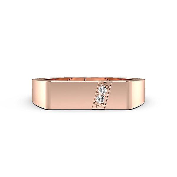 Round Two Diamond Mens Ring (5.0mm)