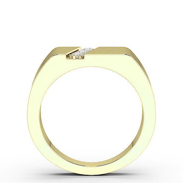 Round Three Diamond Mens Ring (8.8mm)