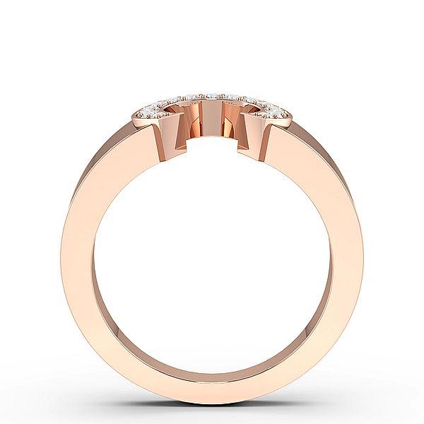 Round Shoe Horse Diamond Mens Ring (10.5mm)