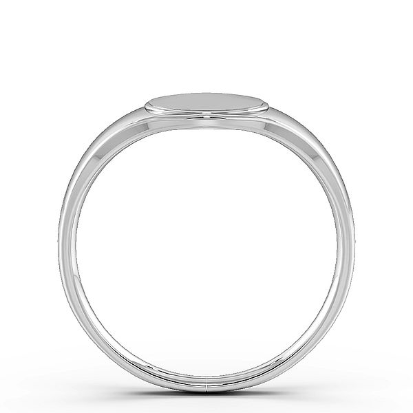 Round Shape Mens Signet Rings (11mm)