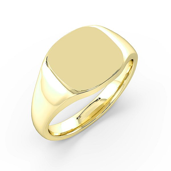 Cushion Shape Mens Signet Rings (11mm)