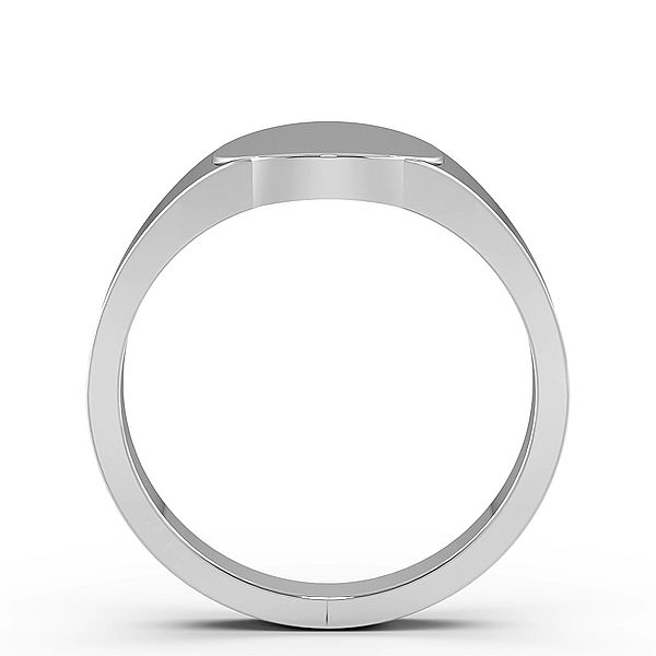 Oval Shape Mens Signet Rings (12mm)
