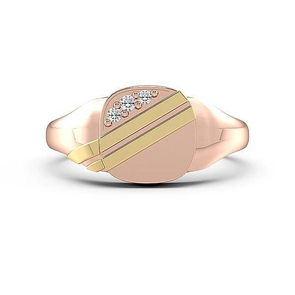 Round 2 Line Diamond Set Mens Ring (10mm)