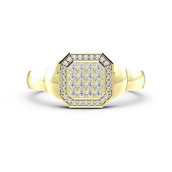 Round Cluster Diamond Mens Ring (10mm)