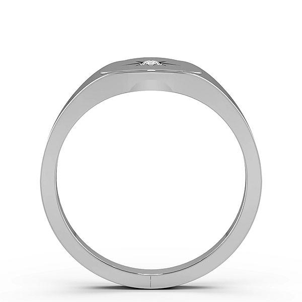 Round Bursting Star Single Diamond Mens Ring (10mm)