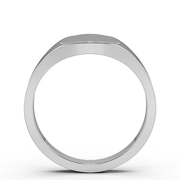 Round Shape Signet Mens Ring (10.5mm)