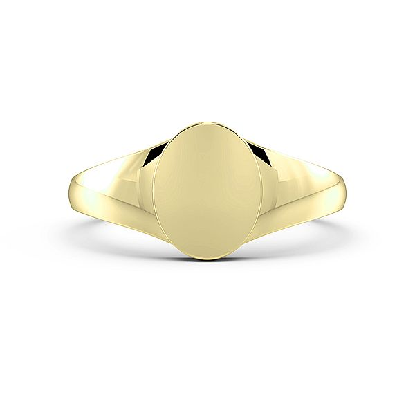 Oval Shape Unisex Signet Rings (10mm)