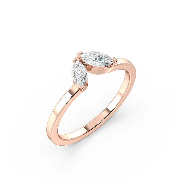 Marquise 4 Prong Eligant Two Stone Diamond Ring