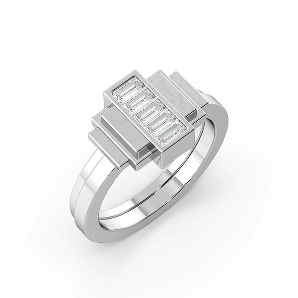 Baguette Channel Setting Unique Designer Diamond Ring