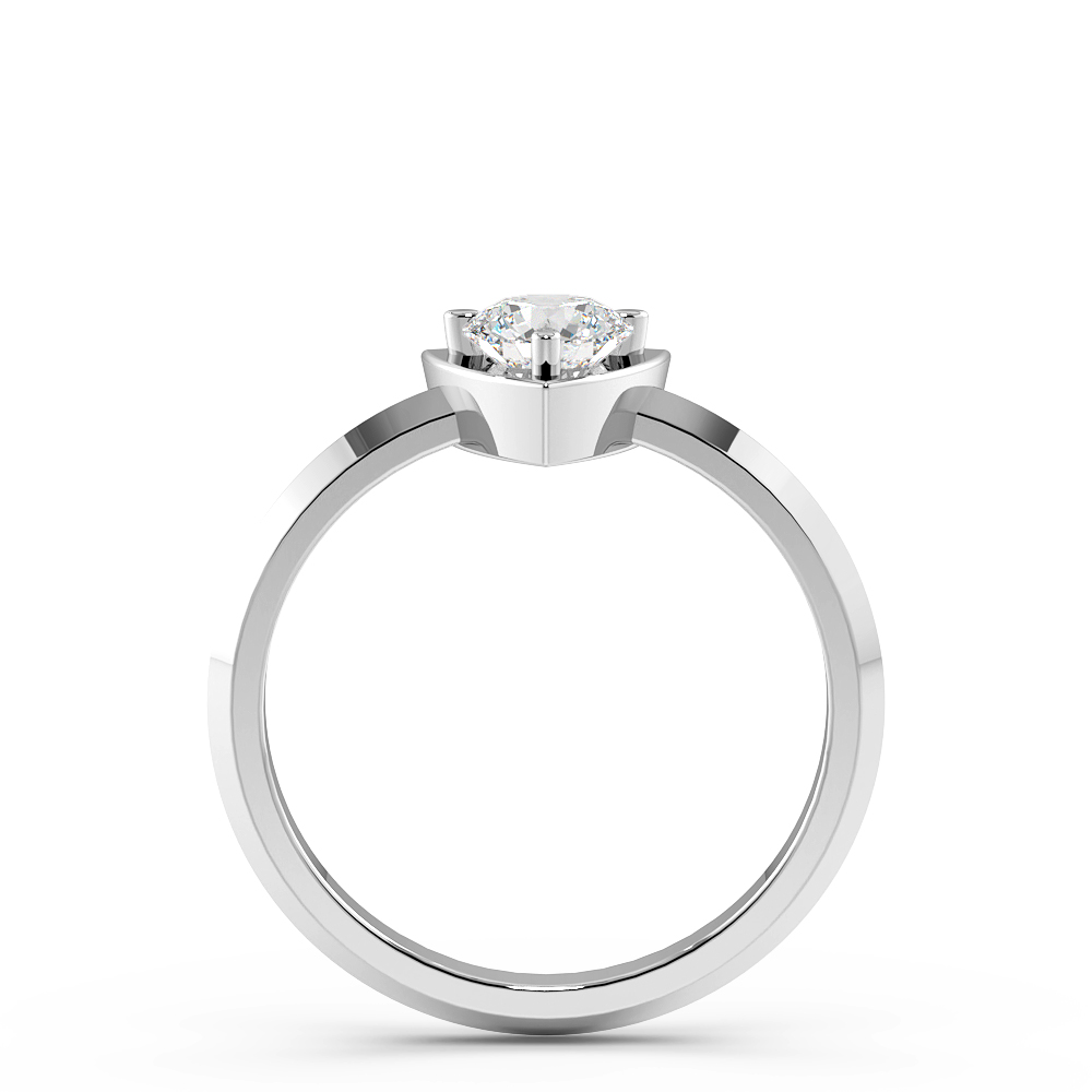 Trillion Shaped Minimalist Solitaire Diamond Engagement Rings
