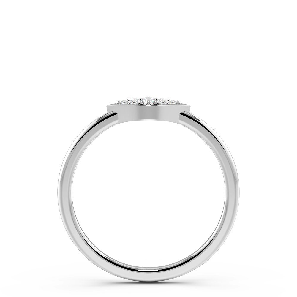 Pave Setting Eye Design Minimalist Designer Diamond Ring