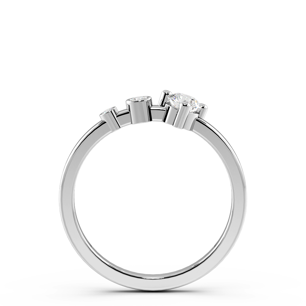 4 Prong Grauating Designer Trilogy Ring Engagement Rings